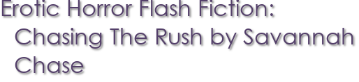 Erotic Horror Flash Fiction: Chasing The Rush by Savannah Chase
