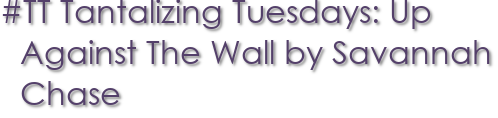 #TT Tantalizing Tuesdays: Up Against The Wall by Savannah Chase